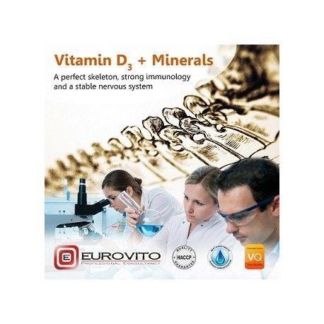 Etykieta produktu Vitamin D3 + Minerals 1kg